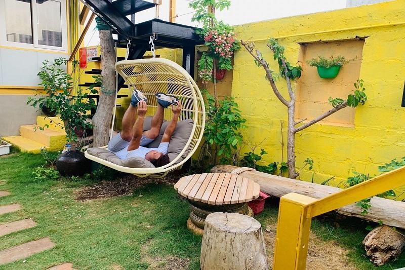 khuôn viên villa đại dương - du lịch đảo phú quý
