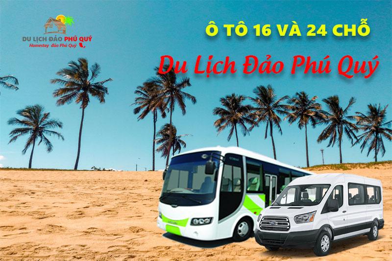 xe 16 chỗ dịch vụ du lịch đảo Phú Qúy